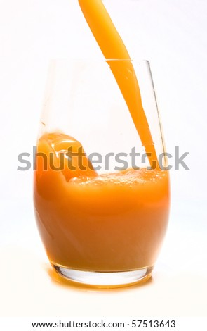 Juice poured into glass
