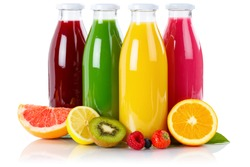 Juice smoothie smoothies in bottle fruit fruits isolated on a white background