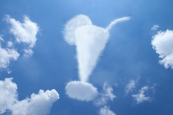juice summer cloud shape on blue sky.