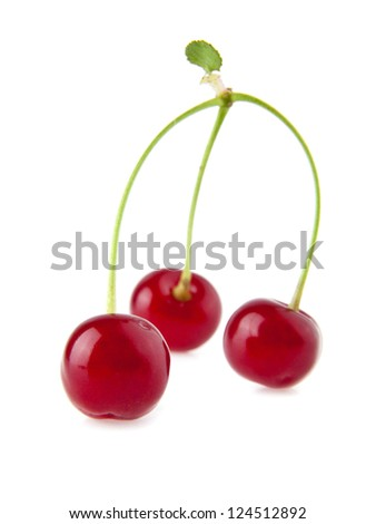juicy cherry on a white background