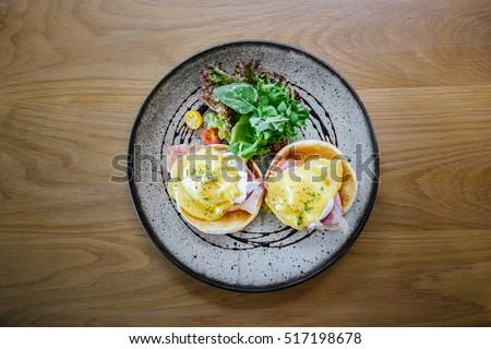 Juicy Egg Benedict Brunch #517198678