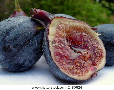 Juicy figs outdoors
