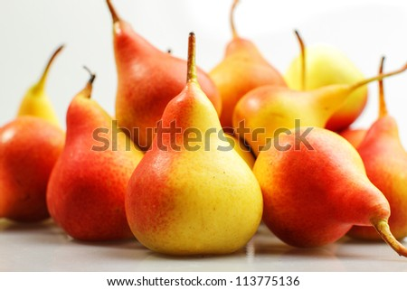 Juicy flavorful pears