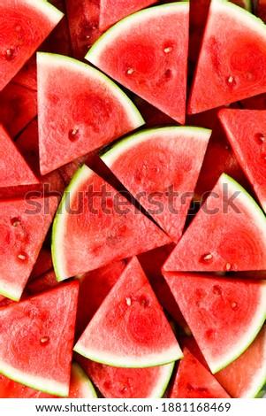 Juicy, Fresh Sliced Watermelon Wedges
