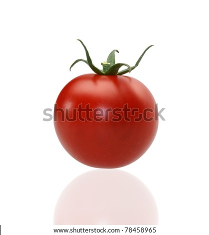 juicy red tomato on the isolated background