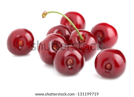 Juicy ripe cherry in closeup