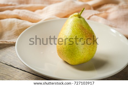 juicy ripe pear #727103917