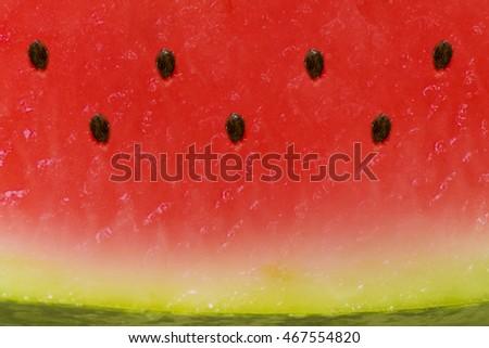 Juicy ripe watermelon texture. Ripe juicy summer fruit watermelon texture. Juicy watermelon texture for a healthy diet. Zdjęcia stock ©