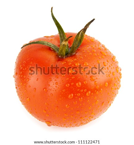 juicy tomato on a white background