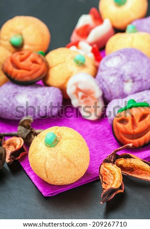 jujube and pumpkin souffle of a holiday Halloween