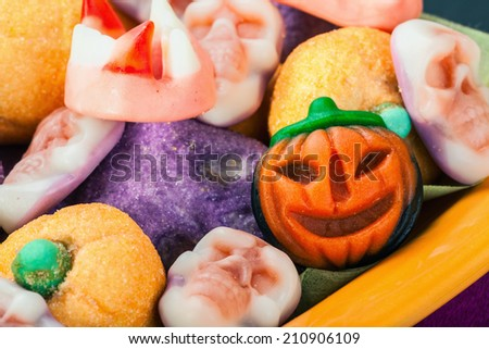 jujube and pumpkin souffle of a holiday Halloween