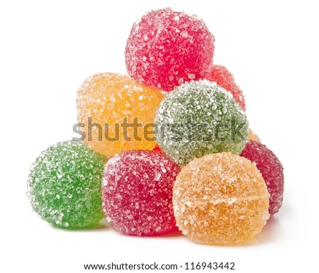 jujube colored balls on a white background