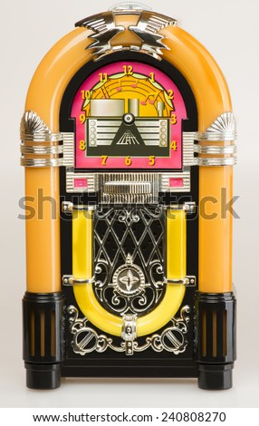 Jukebox,Vintage Jukebox on white background. #240808270