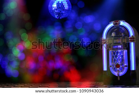 Jukebox With Disco Ball #1090943036