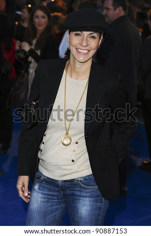 "Julia Bradbury arrives for the ""Tintin"" premiere at the Odeon West End, London. 23/10/2011 Picture by: Steve Vas / Featureflash"