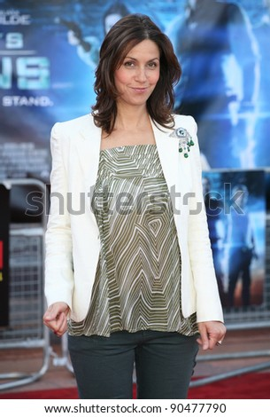 Julia Bradbury arriving for the UK premiere of 'Cowboys & Aliens' at the O2, London. 11/08/2011  Picture by: Alexandra Glen / Featureflash
