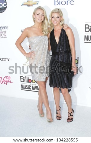 Julianne Hough and sister at the 2012 Billboard Music Awards Arrivals, MGM Grand, Las Vegas, NV 05-20-12