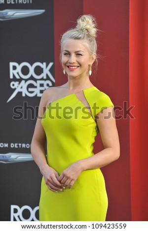 "Julianne Hough at the world premiere of her new movie ""Rock of Ages"" at Grauman's Chinese Theatre, Hollywood. June 9, 2012  Los Angeles, CA Picture: Paul Smith / Featureflash"