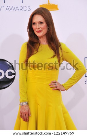 Julianne Moore at the 64th Primetime Emmy Awards at the Nokia Theatre LA Live. September 23, 2012  Los Angeles, CA Picture: Paul Smith - stock photo