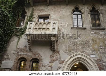 Juliet's House (Casa di Giullietta) with Famous Balcony in Verona, Italy
