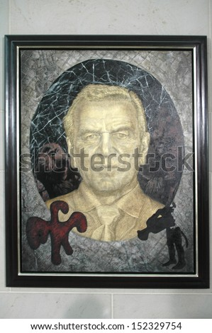 JULY 10, 2007 - BERLIN: the official portrait painting of former Chancellor Gerhard Schroder (by Jorg Immendorff) - official presentation of the portrait painting in the Chanclery in Berlin.