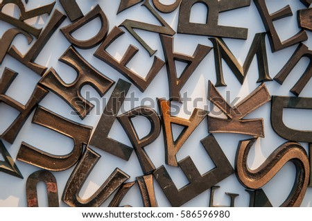 jumble of letters #586596980