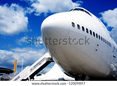 Jumbo Jet in europe airport