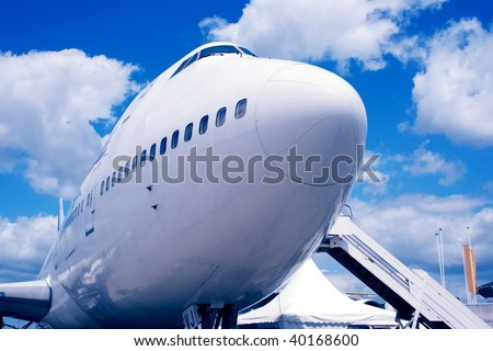 Jumbo Jet on the ground