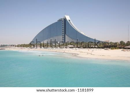 Jumeirah beach hotel viewed from Burj al Arab