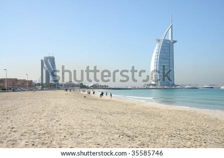 Jumeirah beach in Dubai, United Arab Emirates