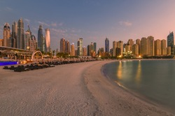 Jumeirah Beach Residence JBR on the Sunset.