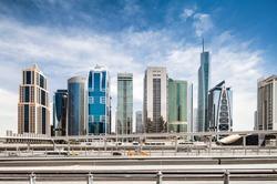 Jumeirah Lake towers city skyline