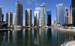 Jumeirah Lakes Towers in Dubai, United Arab Emirates