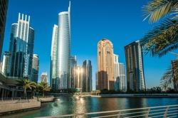 Jumeirah Lakes Towers in Dubai, United Arab Emirates, Dubai, skyscrapers