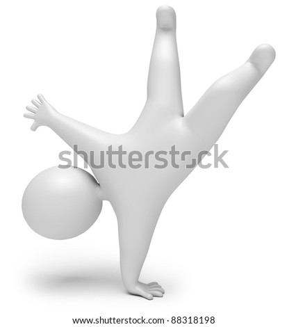 jump for joy, on a white background, 3d render