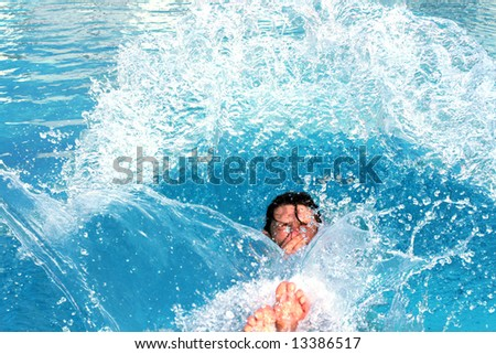 jump splashing pool