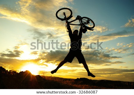 jump with a mountain bike