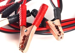 Jumper cables for jump starting a car