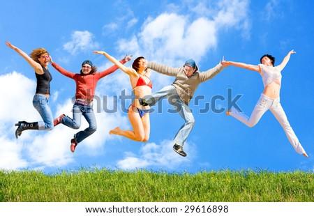 Jumping! Dancing! Having fun!