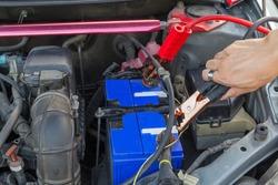 jumping the car battery / charging car battery