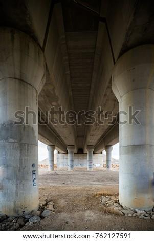 Junction of highways,highway overpass #762127591
