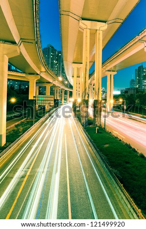 junction with light in shanghai