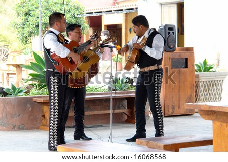 June 2007, Benidorm, Spain: Street Musicians Performing at Terra Natura Theme Park