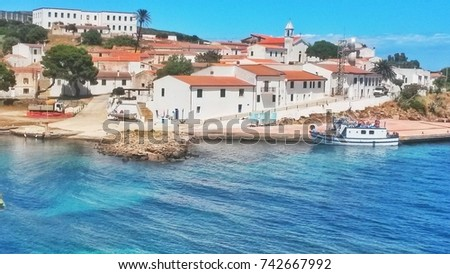June, 1 2014. In the coastal village of 'Cala d'Oliva' in the Asinara island, Sardinia, an agricultural penal colony was established in the second part of the 20th century.  #742667992