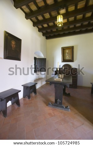 JUNE 2006 - This little cell is where America was born, it is where Christopher Columbus and Franciscans met and prayed