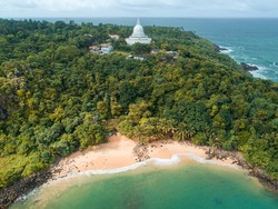 Jungle Beach stupa  in Unawatuna Sri Lanka