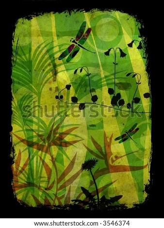 Clip Art Dragonflies. about clipart jungle leaf