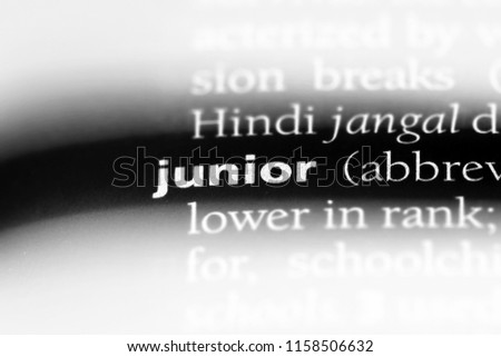 junior word in a dictionary. junior concept. #1158506632