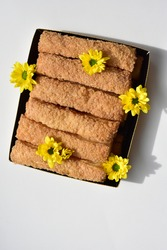 Junk food, delicious sweet biscuit, tasty, white background, confectionery, bakery, homemade, sugary treats, cooking, snack, crunchy, crispy, breakfast meal
