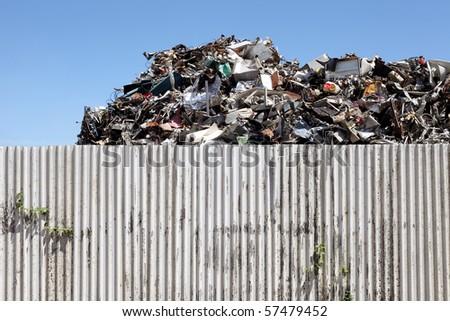 junk yard - stock photo